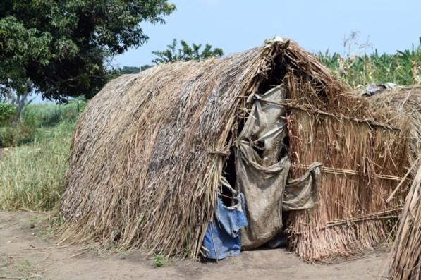 one of many makeshift homes in Bukinda